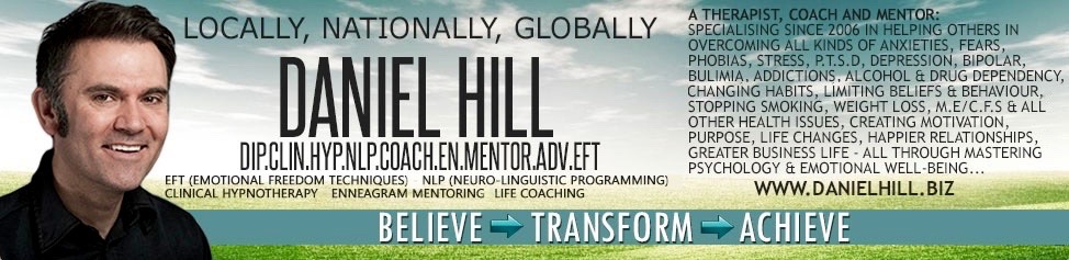 Daniel Hill EFT NLP Coaching, Enneagram Mentoring and Clinical Hypnotherapy